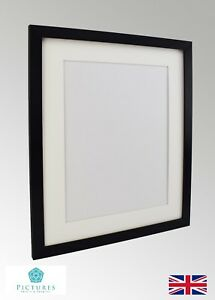 Black-Photo-Picture-Poster-Panoramic-Frame-Off-White-MOUNT-3x3-11x34-034-A6-A3-28mm