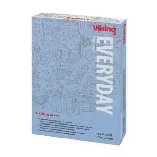 Viking Economy A4 Print Copy Paper 80GSM Ream of 500 Sheets