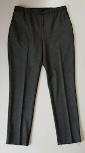SABA-Black-Grey-Stretch-Pants-Size-10