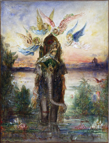 The Sacred Elephant  by Gustave Moreau  Giclee Canvas Print Repro