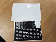 sim racing button box and wheel stickers for iracing, asserto Corsa etc
