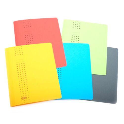 5 x ELBA chic Sammelmappe Dokumenten-Mappe Karton Ordnungs-Mappen farbsortiert