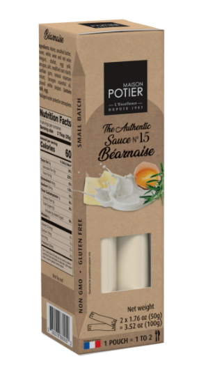 Maison Potier Bearnaise Sauce  2 - 1.76 oz pouches, 3.52 OZ