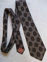 SAMBROOK WITTING & CO LTD VINTAGE WIDE TIE RETRO 1970s MOD BROWN PATTERNED