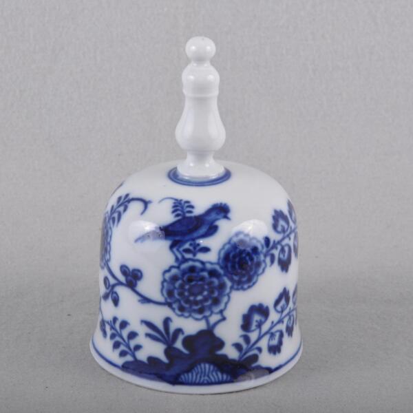 Meissen Uccello Modello Tavolo Bell Campanella, Tempo Knauf Blu