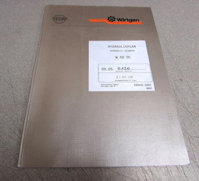 Wirtgen W50dc Hydraulic Diagram Manual 189645 0001