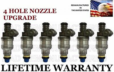 Best Upgrade Flow-Matched Set Of 6 Fuel Injectors for Ford 4.2L 3.8L 4 nozzle