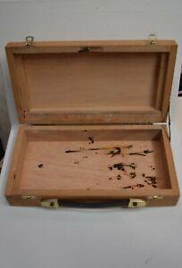 taille 40 581cb b9d0b Détails sur Petit coffre mallette en bois avec fermeture pour rangement  déco avec poignet