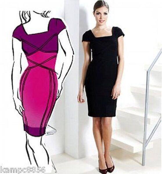 New M&S Black Secret Support Panel Dress Sz UK 10