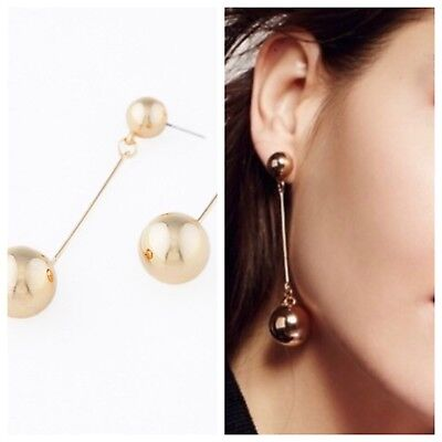 NWT Free People Visionary Mirror Pendulum Earrings in Silver or Gold Ball Drops