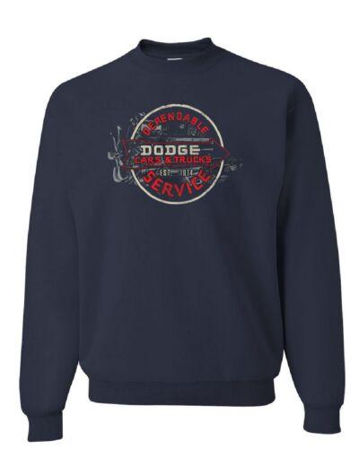 Dodge Cars /& Truck Dependable Service Sweatshirt Retro Vintage Sign Sweater