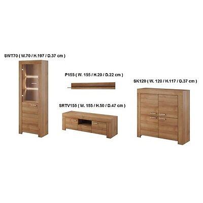 TV Wall Unit SKY New Modern Set of Living room Furniture Oak Riviera /SKY/