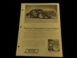 Motiviert Vtg Mohs Ostentatienne Opera Limousine Auto Sales Blatt Merkblatt Wasserflugzeug Hitze Und Durst Lindern. Auto & Motorrad: Teile Schilder