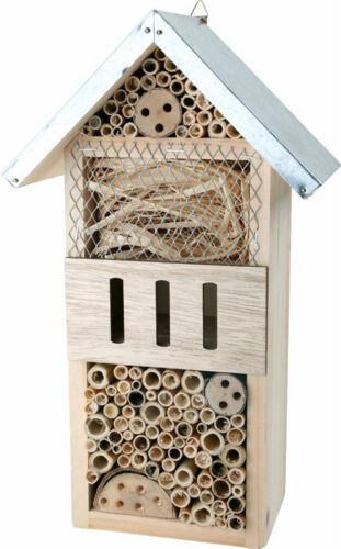 Insektenhotel Holz ca.18 x 10 x 32 cm  Insektenhaus Nistkasten Brutkasten
