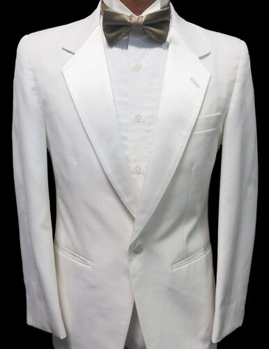 Details about  /8B Boys White Notch Tuxedo Dinner Jacket Wedding Ringbearer Cruise Formal