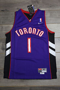 competitive price d0873 aaa5a Details about Tracy McGrady #1 Toronto Raptors Purple Jersey Throwback  Vintage Classic Retro