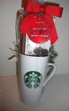 Starbucks mug with hot cocoa mix & double chocolate mix. Gift wrapped.