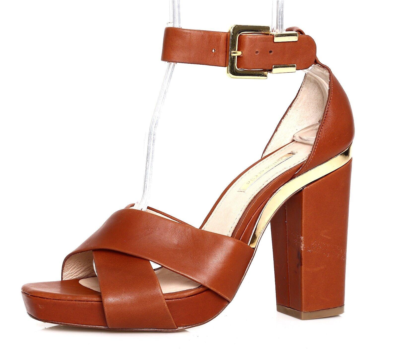 Louise Et Cie Barbados Leather Sandal Brown Donna Sz 10 B 1331