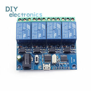 Details about USB 5V 4 Channel Relay Module Smart Switch USB Control Serial  Port US