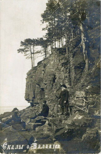 IMPERIAL RUSSIA & ROCKS OF VALAAM - ORIGINAL cir 1910s REAL PHOTO POSTCARD