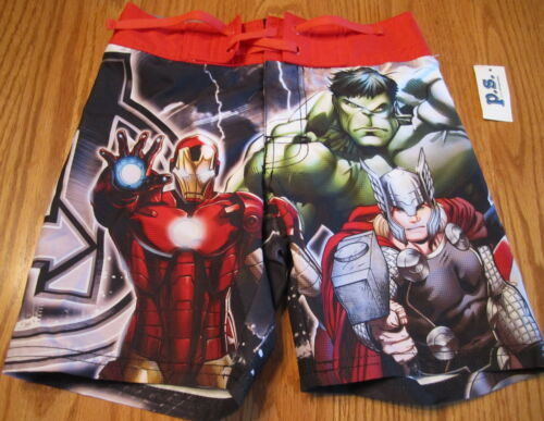 The Avengers Boys Board Shorts P.S Aeropostale NWT All Seasons Multi-Color