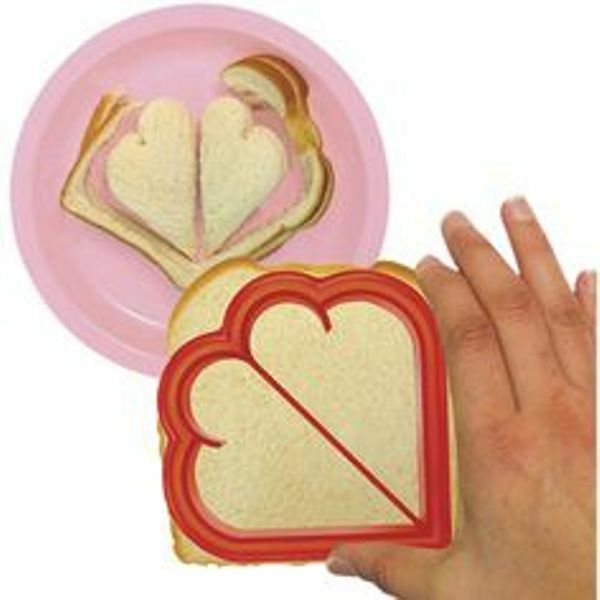 Sweet Bytes Heart Sandwich Crust Cutter Use for Pancakes Toast Crafts & More