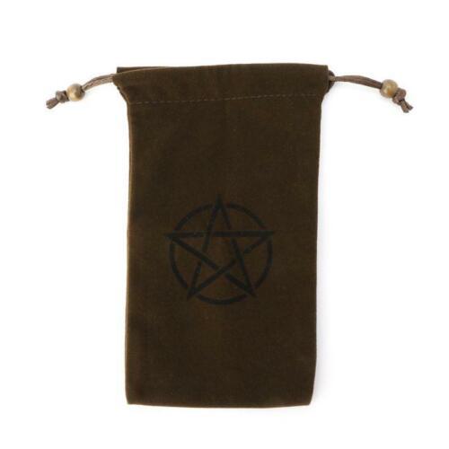 Velvet Pentagram Tarot Storage Bag Board Game Card Package Embroidery Drawstring