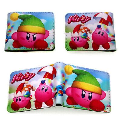 Game Kirby Zipper Wallet With Id Card Holder Short Pu Bi Fold