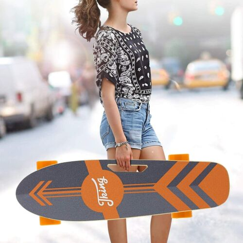 """Details about  /CAROMA 36/"""" Electric Skateboard with Wireless Remote Control Dual 350W Motor US."""