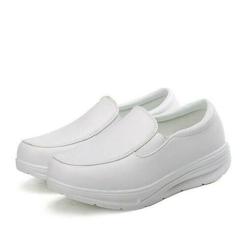 Details about  /New Women Breathable Platform Nurse Work Shoes Slip on Loafers Gommino Pumps hot