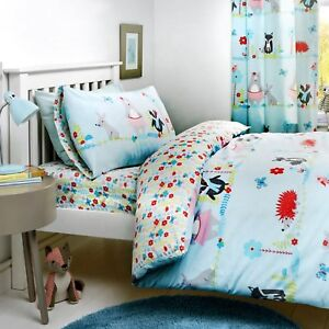 Bedlam-WOODLAND-FOX-Childrens-Bedding-Set-Kids-Toddler-Animals-Quilt-Duvet-Cover
