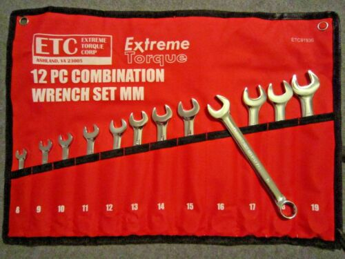8 Wrench Set Deal Angle Stubby Six Point Extra Long Extreme Torque SAE /& Metric