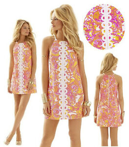 198-Lilly-Pulitzer-Annabelle-Sunshine-Yellow-Sea-And-Be-Seen-Lace-Shift-Dress