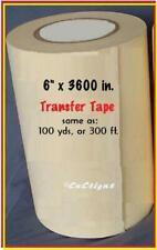 6 Application Transfer Paper Tape 300 Ft Roll For Vinyl Cutter Plotter Fresh