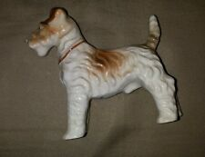 Vintage Airedale Terrier Puppy dog hand painted figurine
