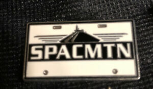 Disney Pin 77139 Attraction Vehicle License Plate Space Mountain SPACMTN