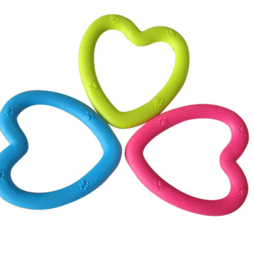 Pet Toy Heart Shape Chew TTB Rubber Bite Resistance Cat Puppy Dog TeethTraiE AL