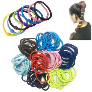 Hair-Bobbles-Thick-Elastic-Band-Rubber-Stretchy-Women-Hairband-Headband-Ponytail