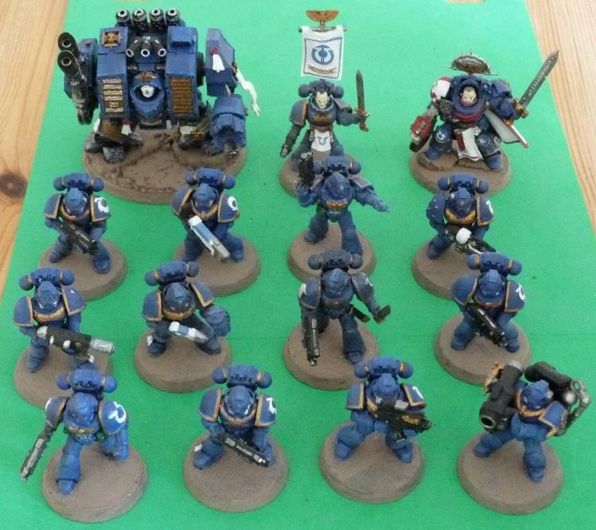 Warhammer 40,000 Ultra Marines  collecte space marines lot peint  le moins cher