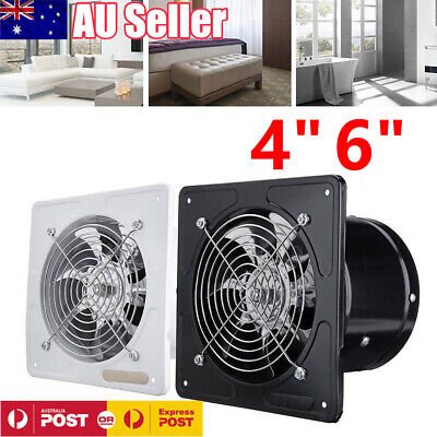 "Hydroponics & Seed Starting 4/6"" 40w Ventilation Extractor Exhaust Fan Blower Window Wall Kitchen Bathroom Durable In Use Home & Garden"