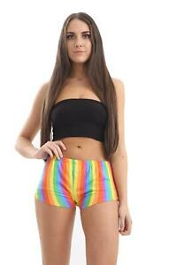 NEW-RAINBOW-STRIPED-HOT-PANTS-GAY-PRIDE-LGBT-LESBIAN-DANCE-GYM-FUN-PARTY-SHORTS