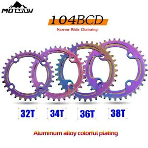 DECKAS 104bcd MTB Bike Narrow Wide Chainring CNC Single Chain ring 32//34//36//38T