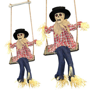 Hanging-Scarecrow-Animated-Halloween-Prop-Sound-Activated-Moving-DEL-Yeux-Creepy