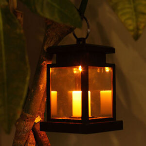 Solar powered led candle table lantern hanging light outdoor garden image is loading solar powered led candle table lantern hanging light workwithnaturefo