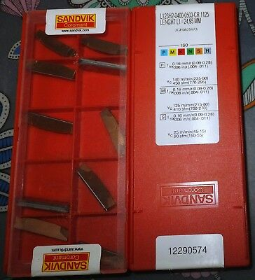 SANDVIK L123H2-0400-0503-CR 1125 cutting inserts cut off 4 mm parting 10 pcs