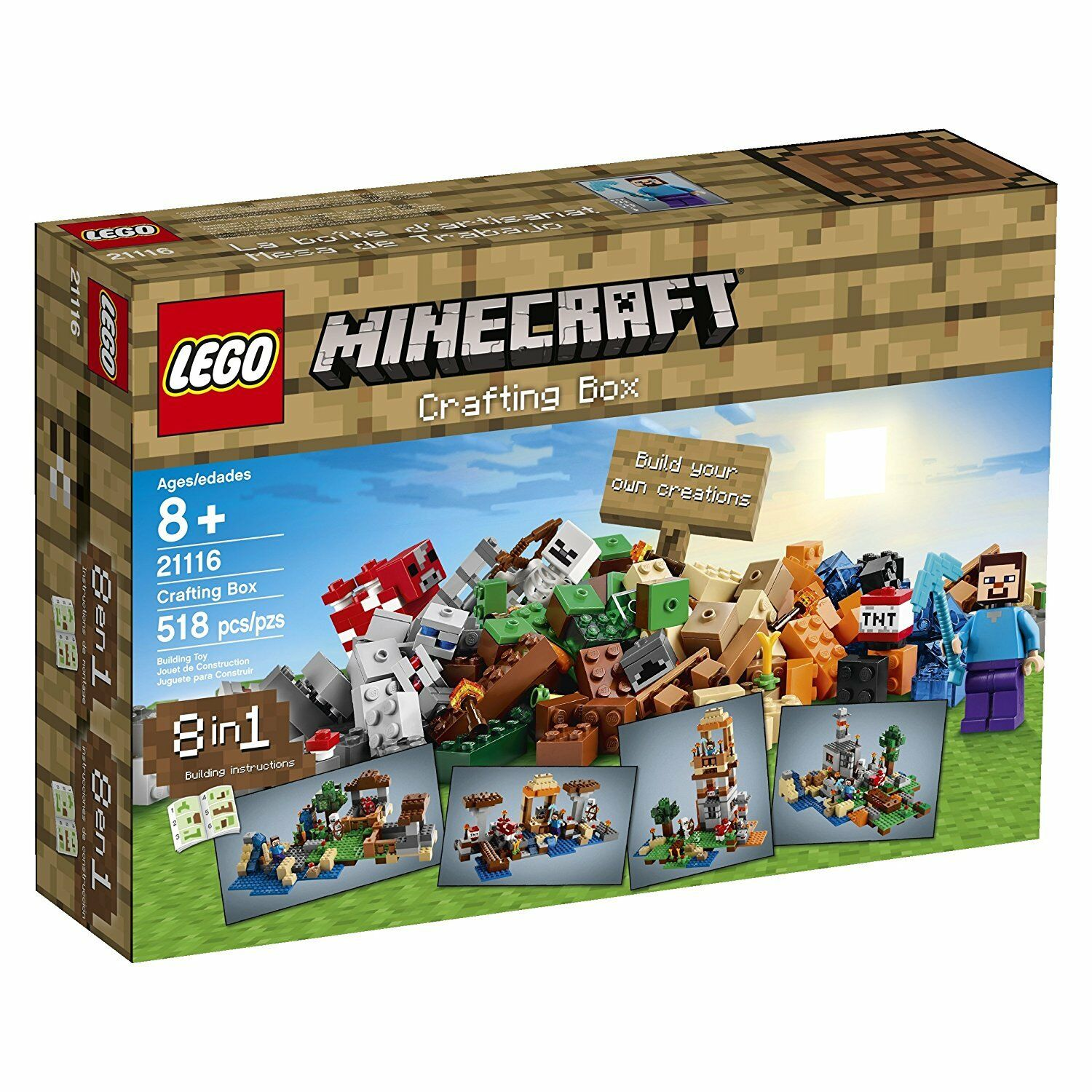 LEGO Minecraft 21116 FAI DA TE BOX 8 in 1 Set Pensionati SIGILLATO NUOVO
