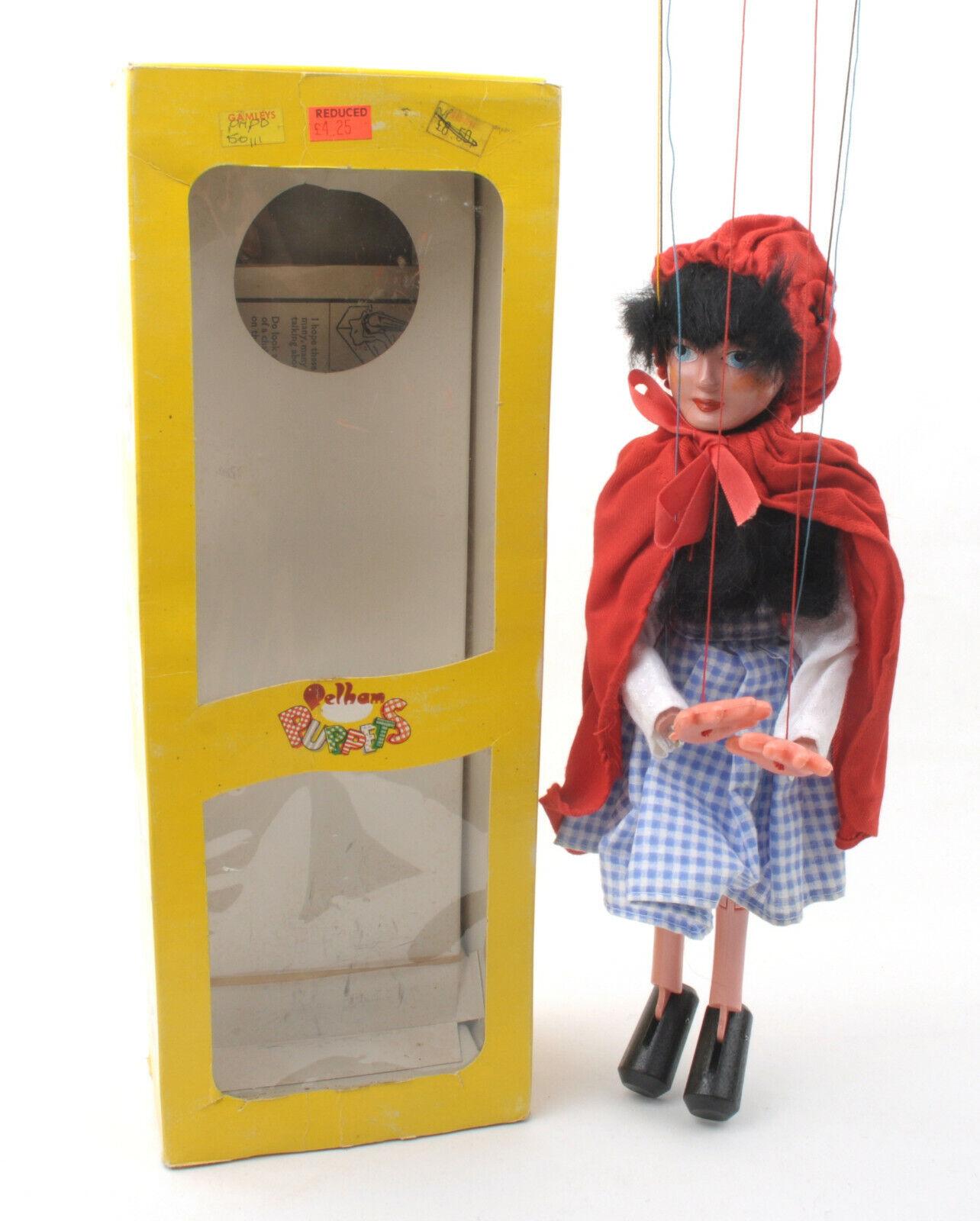 Marioneta de Vintage Pelham-SL11 de Little rojo Riding Hood - 1970s  en Caja  (2)