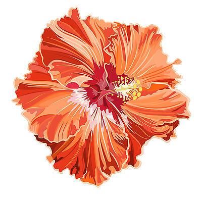 8 cm - PREMIUM Autoaufkleber Hibiskus Blumen Blüten Aufkleber Sticker Auto LKW