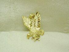 WONDERFUL!! 14K YELLOW GOLD EAGLE IN FLIGHT PENDANT N48-Q
