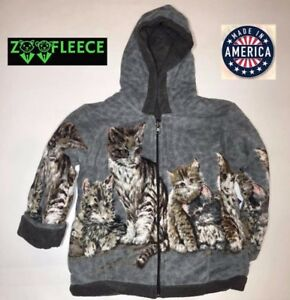ZooFleece Cat Kittens  Winter Reversible Jacket Coat Sweater Comfort Pet S-3X